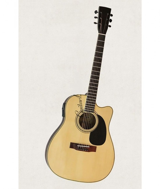 Đàn Guitar Acoustic DJ260 EQ MET B12